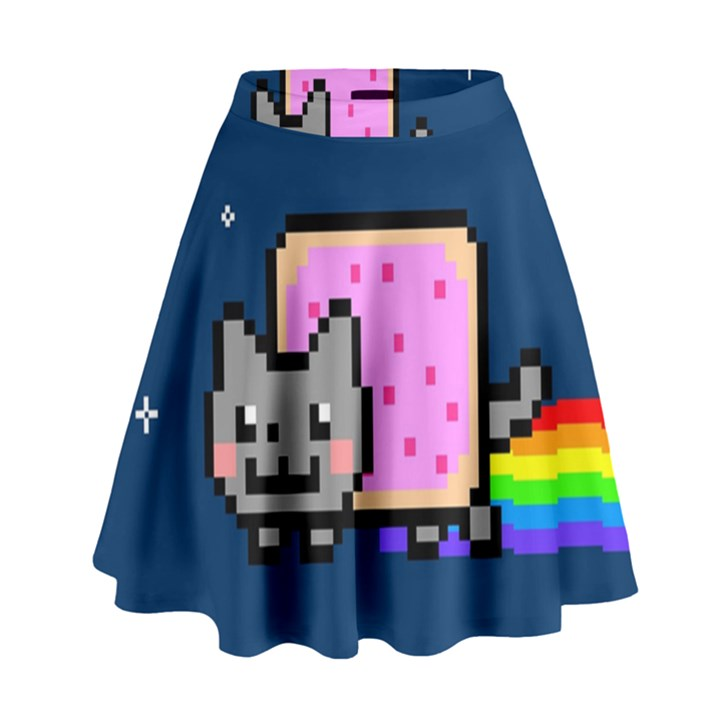 Nyan Cat High Waist Skirt