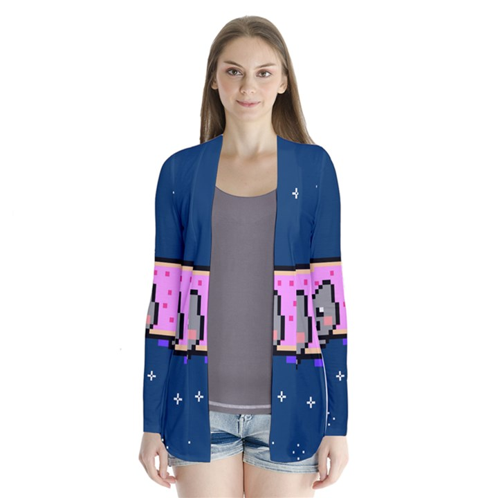 Nyan Cat Drape Collar Cardigan
