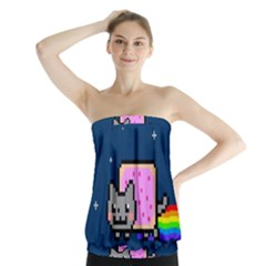 Nyan Cat Strapless Top