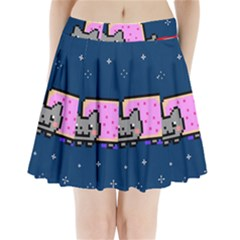 Nyan Cat Pleated Mini Skirt