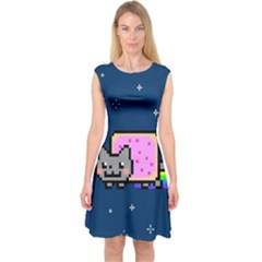 Nyan Cat Capsleeve Midi Dress