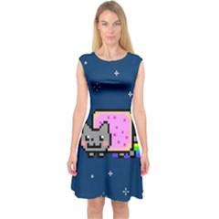 Nyan Cat Capsleeve Midi Dress