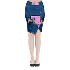 Nyan Cat Midi Wrap Pencil Skirt