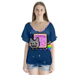 Nyan Cat Flutter Sleeve Top