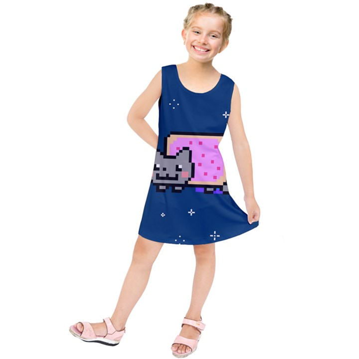 Nyan Cat Kids  Tunic Dress