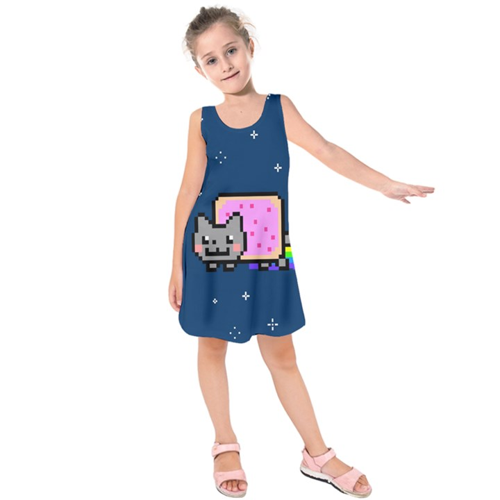 Nyan Cat Kids  Sleeveless Dress