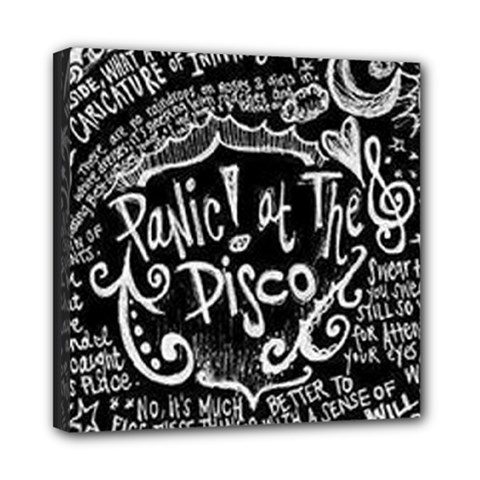 Panic ! At The Disco Lyric Quotes Mini Canvas 8  x 8