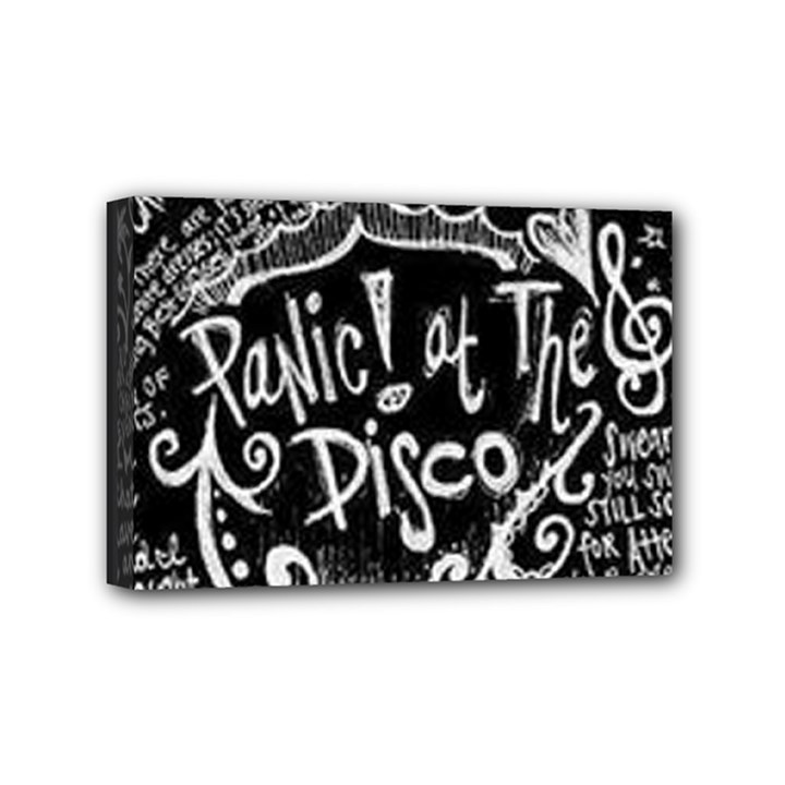 Panic ! At The Disco Lyric Quotes Mini Canvas 6  x 4