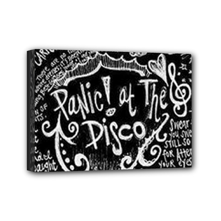 Panic ! At The Disco Lyric Quotes Mini Canvas 7  x 5