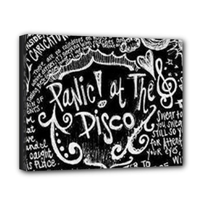 Panic ! At The Disco Lyric Quotes Canvas 10  x 8