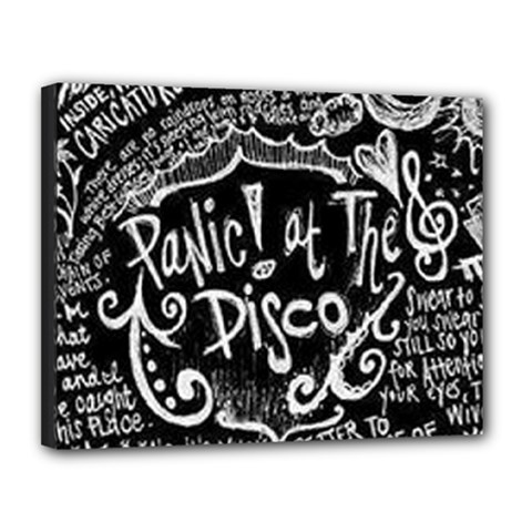 Panic ! At The Disco Lyric Quotes Canvas 14  x 11