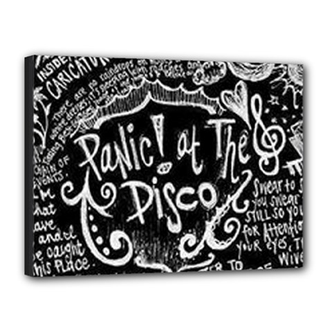 Panic ! At The Disco Lyric Quotes Canvas 16  x 12