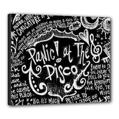 Panic ! At The Disco Lyric Quotes Canvas 24  x 20