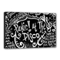 Panic ! At The Disco Lyric Quotes Canvas 18  x 12  View1