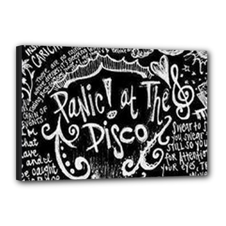 Panic ! At The Disco Lyric Quotes Canvas 18  x 12