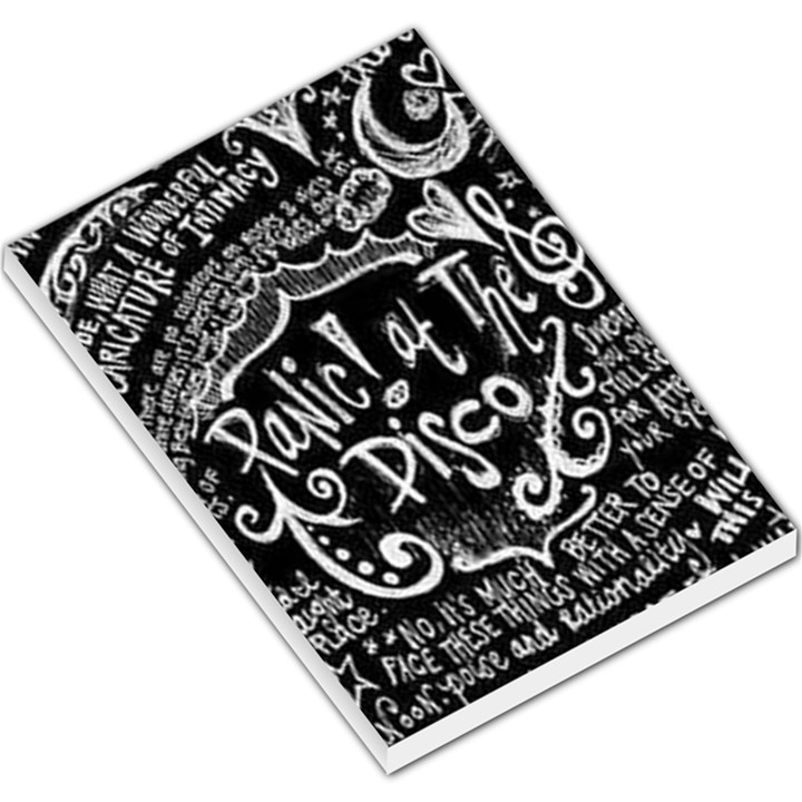 Panic ! At The Disco Lyric Quotes Large Memo Pads