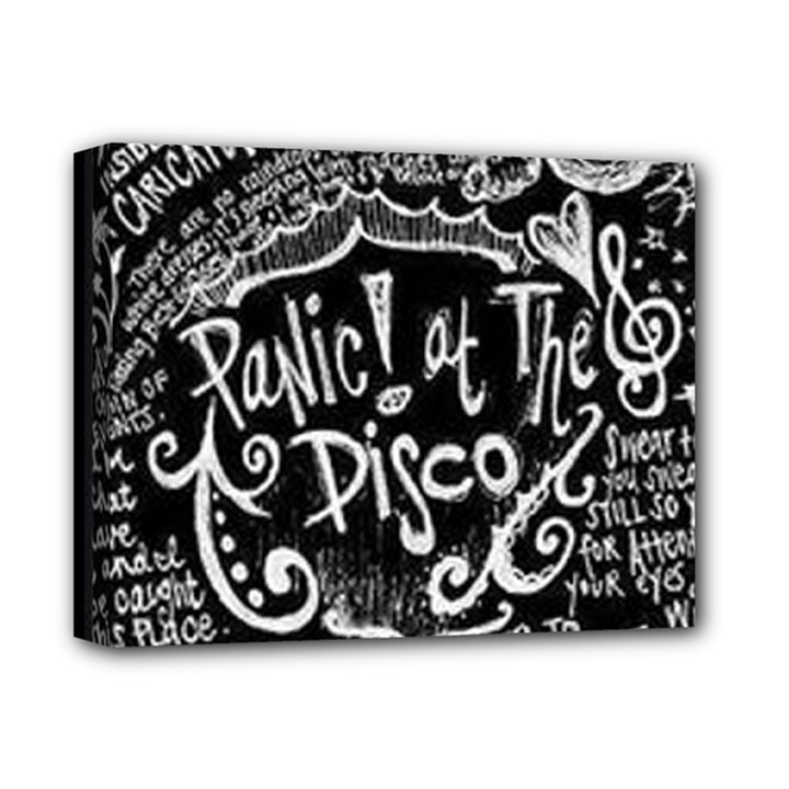 Panic ! At The Disco Lyric Quotes Deluxe Canvas 14  x 11