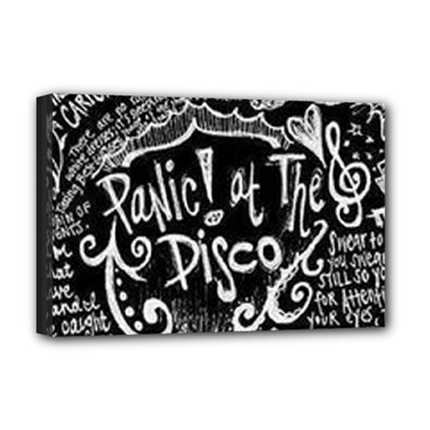 Panic ! At The Disco Lyric Quotes Deluxe Canvas 18  x 12