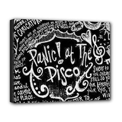 Panic ! At The Disco Lyric Quotes Deluxe Canvas 20  x 16