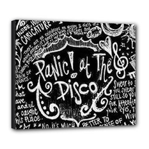 Panic ! At The Disco Lyric Quotes Deluxe Canvas 24  X 20