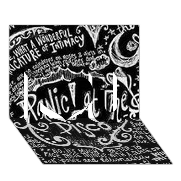 Panic ! At The Disco Lyric Quotes I Love You 3D Greeting Card (7x5)
