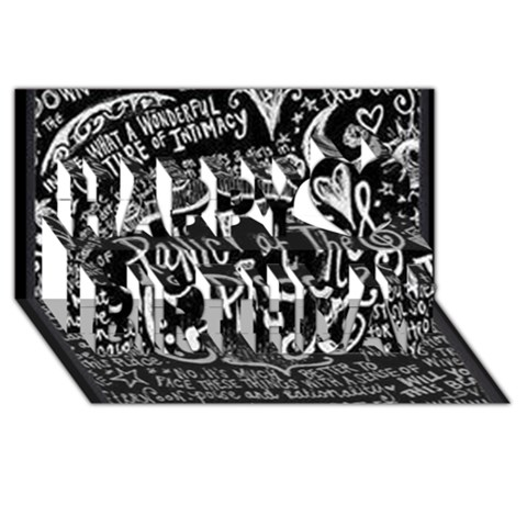 Panic ! At The Disco Lyric Quotes Happy Birthday 3D Greeting Card (8x4)