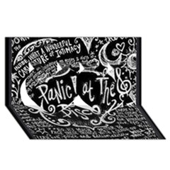 Panic ! At The Disco Lyric Quotes Twin Hearts 3D Greeting Card (8x4)