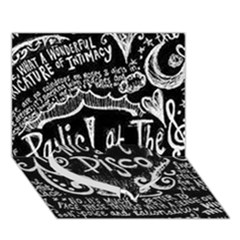 Panic ! At The Disco Lyric Quotes Heart Bottom 3D Greeting Card (7x5)
