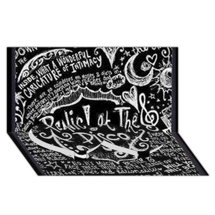 Panic ! At The Disco Lyric Quotes Twin Heart Bottom 3D Greeting Card (8x4)