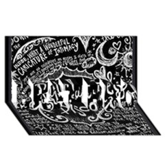 Panic ! At The Disco Lyric Quotes Best Bro 3d Greeting Card (8x4)