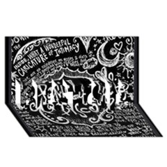 Panic ! At The Disco Lyric Quotes BEST SIS 3D Greeting Card (8x4)