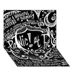 Panic ! At The Disco Lyric Quotes Circle 3d Greeting Card (7x5)