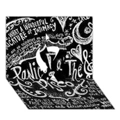 Panic ! At The Disco Lyric Quotes Ribbon 3d Greeting Card (7x5)