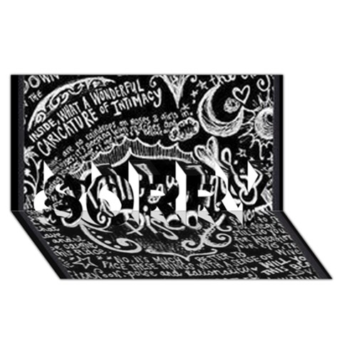 Panic ! At The Disco Lyric Quotes SORRY 3D Greeting Card (8x4)