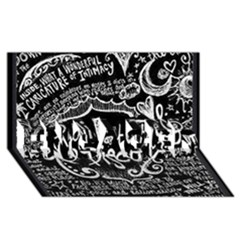 Panic ! At The Disco Lyric Quotes Engaged 3d Greeting Card (8x4)