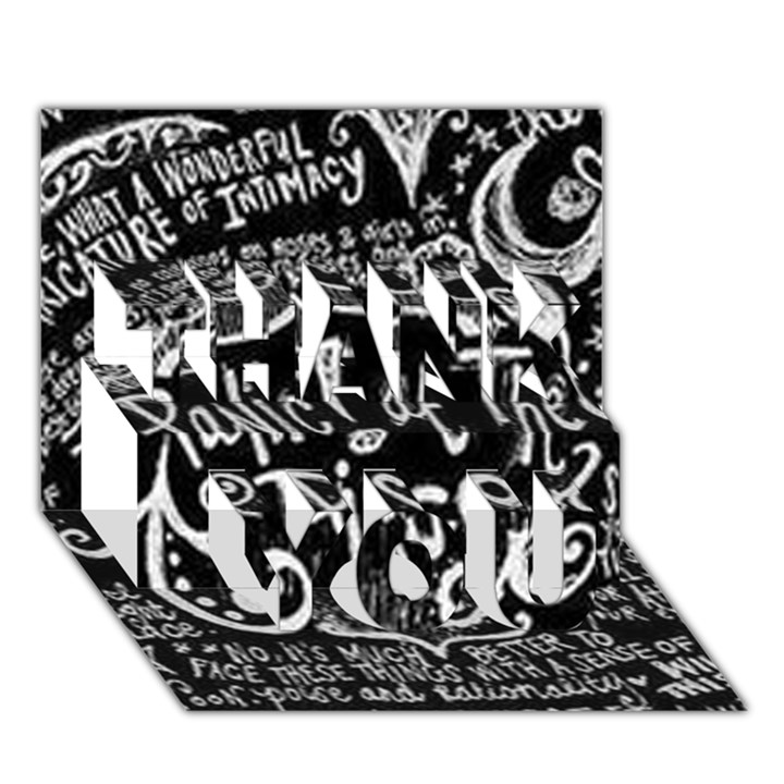 Panic ! At The Disco Lyric Quotes THANK YOU 3D Greeting Card (7x5)