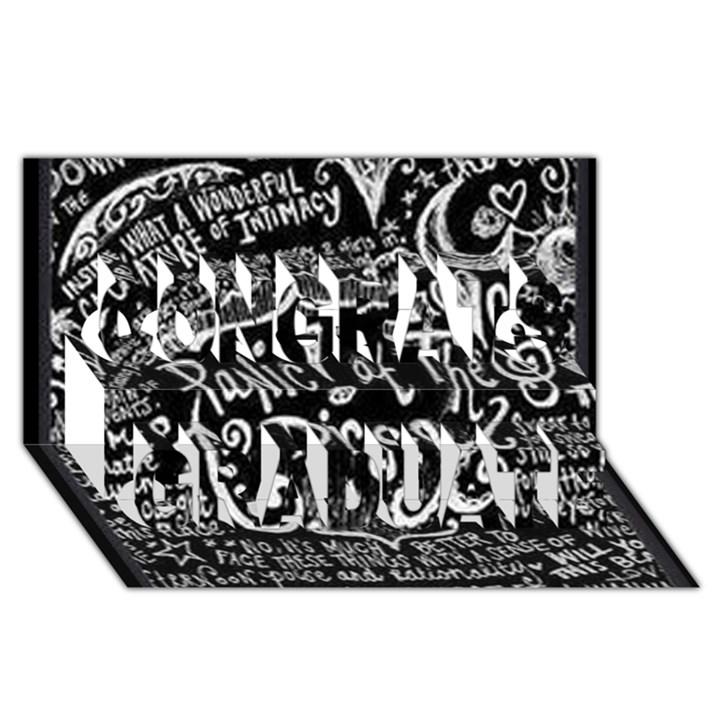 Panic ! At The Disco Lyric Quotes Congrats Graduate 3D Greeting Card (8x4)