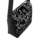 Panic ! At The Disco Lyric Quotes Flap Messenger Bag (L)  View2