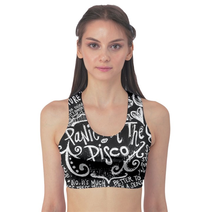 Panic ! At The Disco Lyric Quotes Sports Bra