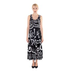 Panic ! At The Disco Lyric Quotes Sleeveless Maxi Dress