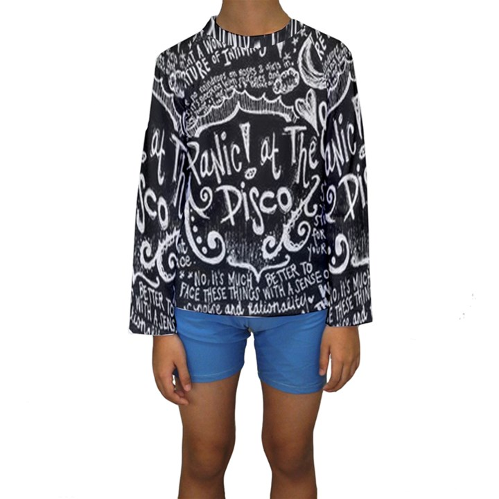 Panic ! At The Disco Lyric Quotes Kids  Long Sleeve Swimwear