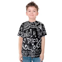 Panic ! At The Disco Lyric Quotes Kids  Cotton Tee