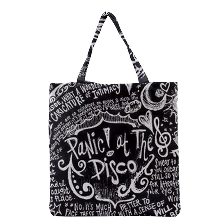 Panic ! At The Disco Lyric Quotes Grocery Tote Bag