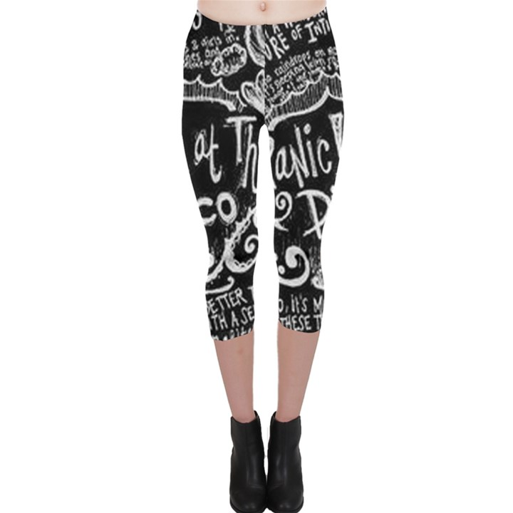 Panic ! At The Disco Lyric Quotes Capri Leggings