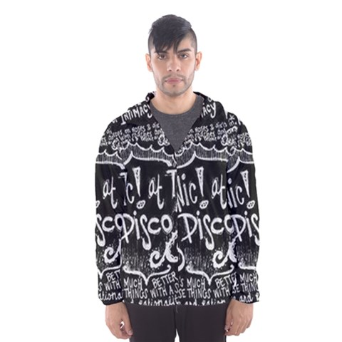 Panic ! At The Disco Lyric Quotes Hooded Wind Breaker (Men)