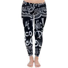 Panic ! At The Disco Lyric Quotes Winter Leggings