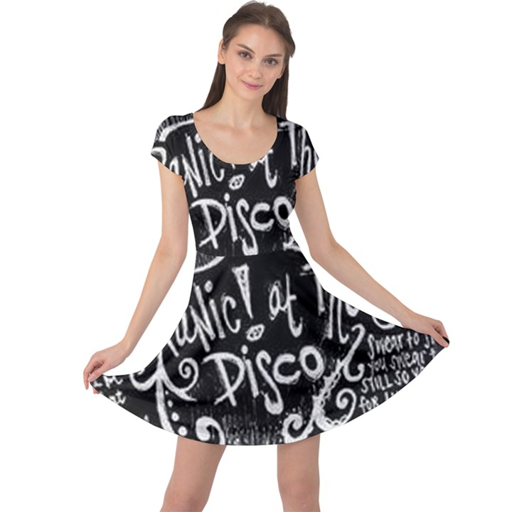 Panic ! At The Disco Lyric Quotes Cap Sleeve Dresses