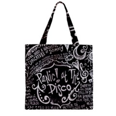 Panic ! At The Disco Lyric Quotes Zipper Grocery Tote Bag