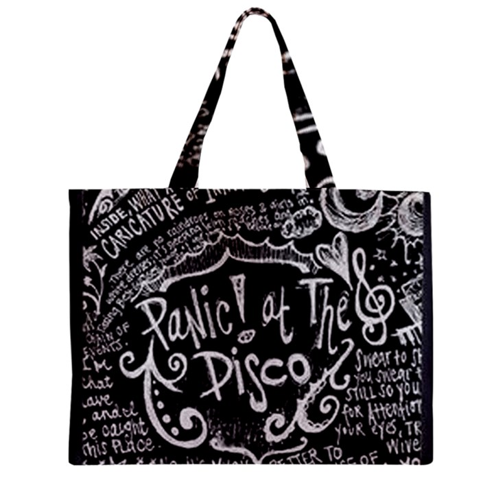 Panic ! At The Disco Lyric Quotes Zipper Mini Tote Bag