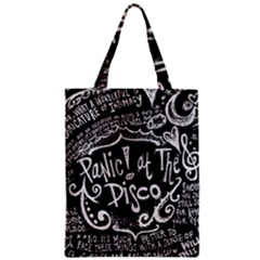 Panic ! At The Disco Lyric Quotes Zipper Classic Tote Bag
